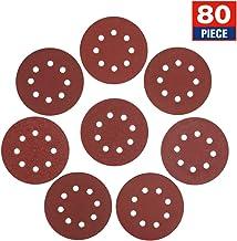 WORKPRO 5-Inch 8-Hole Hook and Loop Sanding Discs, 60/80/100/120/180/240/320/400 Assorted Grits Sandpaper for Random Orbital Sander, W124097A