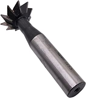 Super Tool 1 3//8 Diameter 45 Degree Dovetail Cutter HSS 84945 High Speed Steel USA Made 3//8 Wide 5//8 Shank