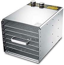 Máquina de conservación de alimentos para el hogar Deshidratador de alimentos, Temporización eléctrica Temperatura constante Bandeja de acero inoxidable de 6 capas Secador de acero inoxidable doméstic