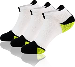 MUSCLE WAY Running Socks, Athletic Cushioned Low Cut Socks