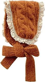 Xiang Ru Kids Winter Knitted Lace Earflap Warm Headband Scarf Earmuff Brown
