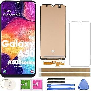 مجموعة محول رقمي بشاشة LCD بديلة لشاشة اللمس (أسود) لهاتف Samsung Galaxy A50 2019 A505 A505G/DS A505FDS A507 A507F A507FN ...