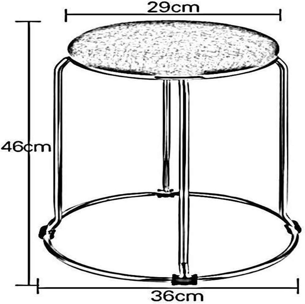 Simple maison moderne en métal PU ronde Tabouret Chaise Table à manger Tabouret empilable Chaises protection de l'environnement (Color : D*2) B*2