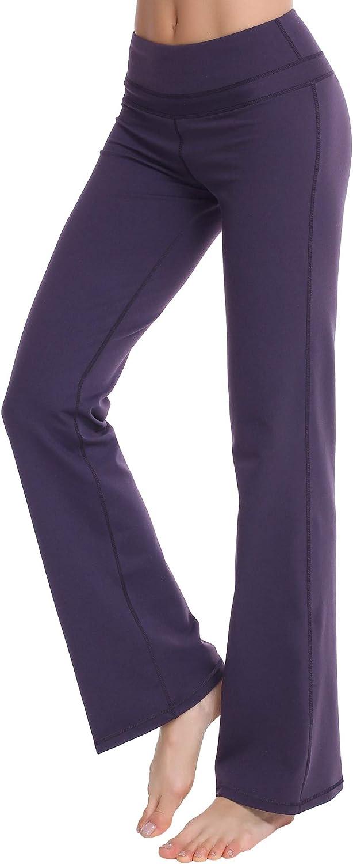 Zeronic Women's Bootcut Yoga Fresno Mall Pants High Challenge the lowest price of Japan ☆ Long Control Tummy Waist