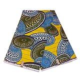 Julius Holland Stoff, afrikanischer Stoff, gelb-blau,