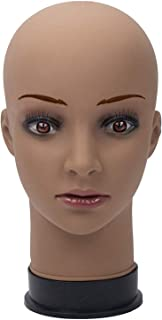 Mannequin Head for Wigs Making wig Display Practice Training Styling Bald Professional Cosmetology African American Ethnic Female With Mount Hole