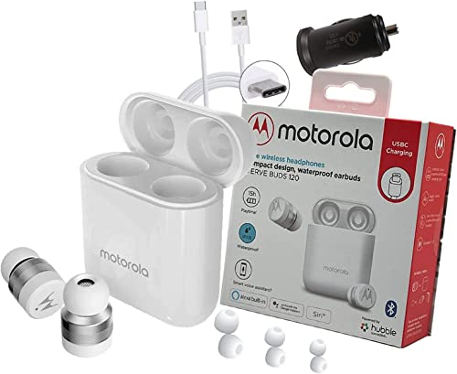 popular Motorola Verve Buds 120 True Earbuds sale Wireless Headphones, Waterproof IPX6 Bluetooth 5.0 Touch Control On Both Buds, Compatible with Alexa, Google, Siri 2021 - Retail Packing sale