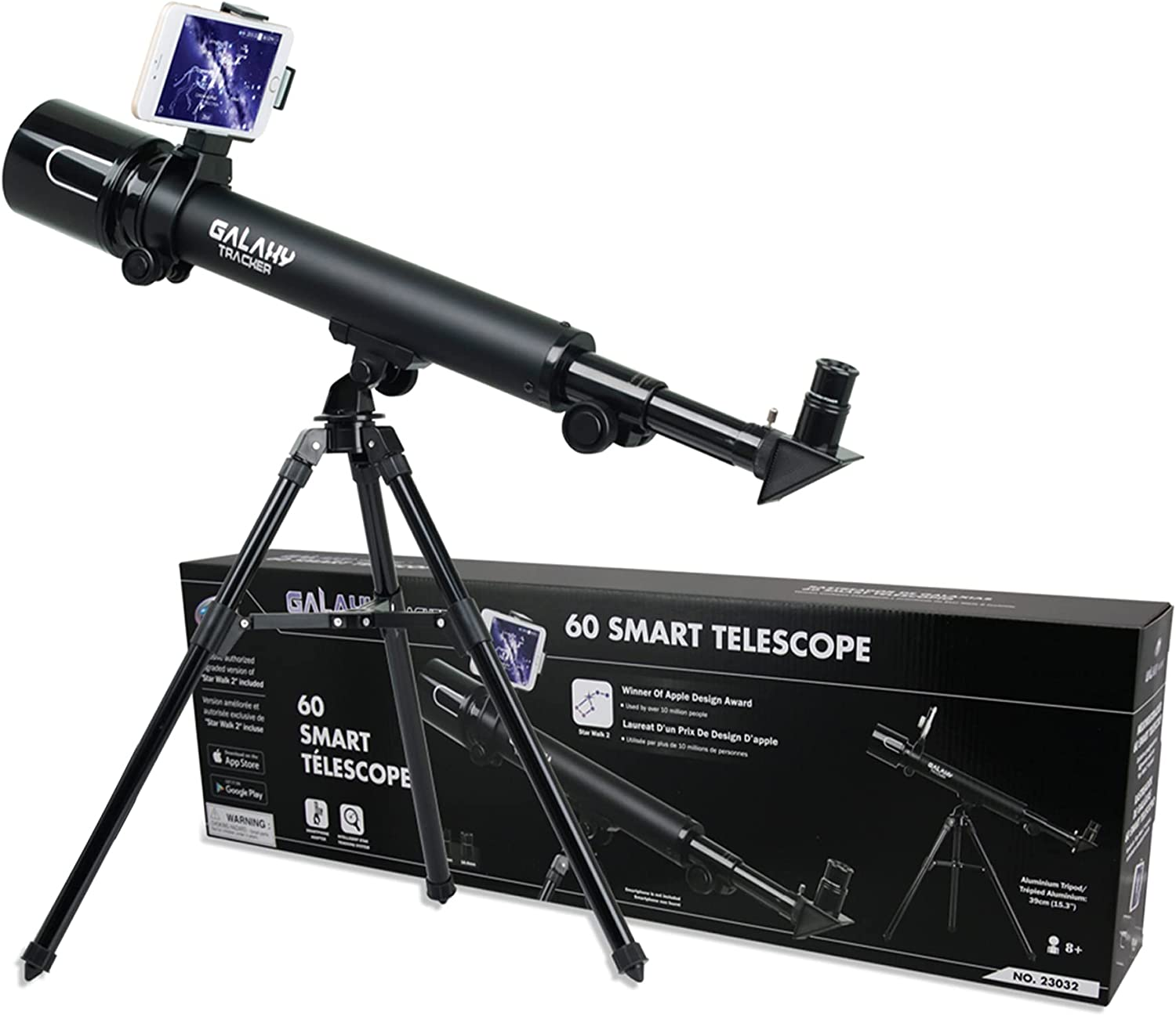 IDS Home Eastcolight 23032 Professional Galaxy Tracker Telescope 30/60 Power 50mm Astronomical Terrestrial Astronomy Telescope for Kid Beginners with Tripod