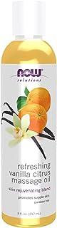 NOW Solutions Refreshing Vanilla Citrus Massage Oil, 8 fl oz.