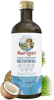 Glass Bottle Liquid Sleep Multimineral by MaryRuth (Coconut) Vegan Vitamins, Minerals, Magnesium, Calcium & MSM   Natural Sleep & Stress Aid   Muscle Relaxation   NO Melatonin   Non-GMO 0 Sugar 0 Fat