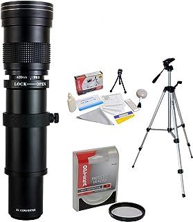 Opteka 420–800mm f / 8.3HD望遠ズームレンズUVフィルターと三脚付きPentax Pentax K - 1K - 3II, KP, k-70、K - s2、k-s1、k-500, K - 50, K - 30, K - 7, K - 5, K - 3, k20d, k100d and k10dデジタル一眼レフカメラ