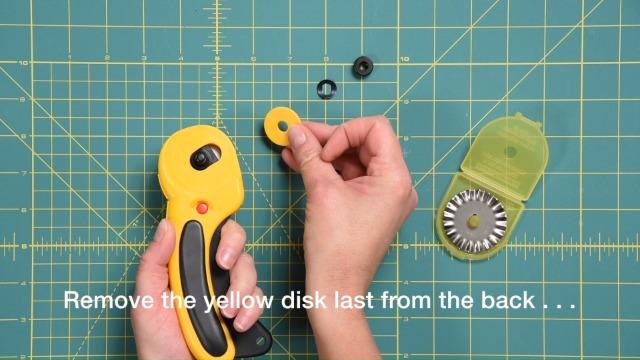 Nouveau-Sew Easy-Lot de trois 45 mm Straight Baldes adapté pour 45 mm Rotary Cutter