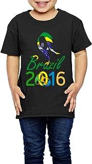 Kim Lennon 2016 Brazil Torch Relay Short Sleeve Child Tee Black