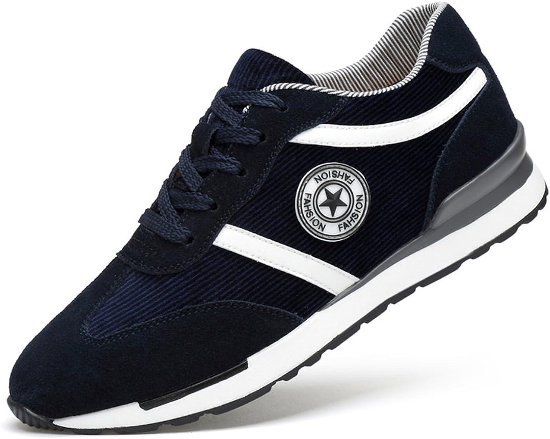 QIDI Casual shoes Male Rubber Breathable Non-slip Sports shoes (color   bluee, Size   EU41 UK7.5-8)