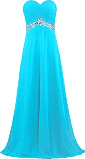 ANTS Women's Formal Crystal Chiffon Evening Dresses Long Prom Gowns