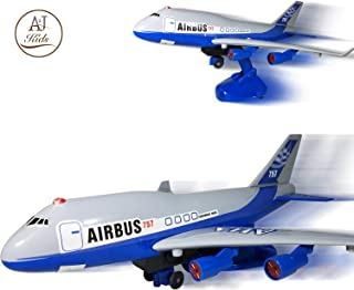 ANJ Kids Toys - Battery Operated Airplane Toy for Boys and Girls – Bump N Go, Ascending and Descending Modes with Realistic Sounds - Airbus Model Airplane – The Best Preschool Toy for Kids! (Age 3+)