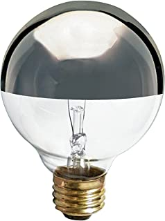 (6 Pack) Satco S3862 120-Volt 60-Watt G25 Medium Base Light Bulb, Silver Crown
