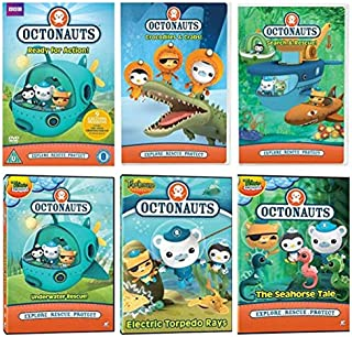 Octonauts DVD Collection Pack - Search & Rescue / Crocodiles & Crabs / Underwater Rescue / Electric Torpedo Rays / The Seahorse Tale / Octonauts & The Vampire Squid