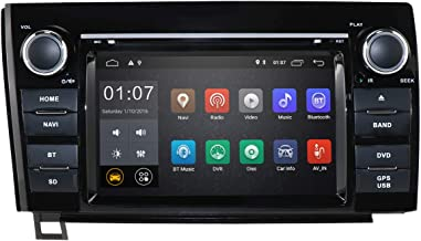 7 Inch Android 9.0 Touch Screen Car Stereo DVD Player in Dash GPS Navigation for 2007-2013 Toyota Tundra/ 2008-2013 Toyota Sequoia Support Bluetooth/WiFi Hotspots/4G/OBD2/DVR/AV-IN