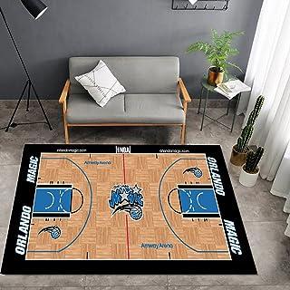 Tritow USA NBA Basketball Tapis NBA Magic Salon Tapis antidérapant Facile à Nettoyer 3D Tapis de Zone d'impression Tapis d...