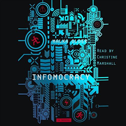 Infomocracy audiobook cover art