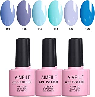 AIMEILI Gel Nail Polish Set Soak Off UV LED Gel Polish Multicolour/Mix Colour/Combo Colour Of 6pcs X 10ml - Gift Kit 32