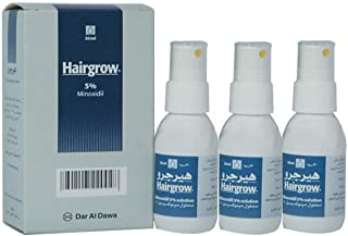 Hairgrow 5% minoxidil 3 months supply (3 bottles x 50ML)