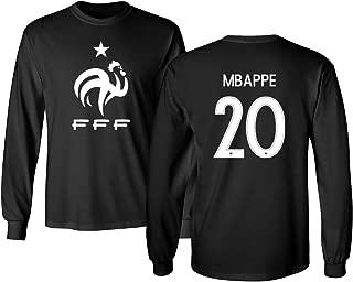 France 2018 National Soccer #20 Kylian MBAPPE World Championship Men's Long Sleeve T-Shirt