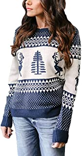 Patterns Reindeer Ugly Christmas Sweater Pullover Cardigan