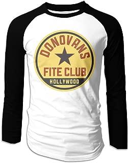 Mens Ray Donovan Fite Club Long Sleeve Raglan Baseball Tshirt