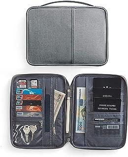 Travel Wallet Passport Holder, Multifunction Portable Travel Wallet Waterproof Folding Passport Holder Wallet for Travel, Business Passport Wallet Holder Cover (Grey)