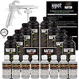 U-POL Raptor Dove Gray Urethane Spray-On Truck Bed Liner Kit W/Free Spray Gun, 8 Liters