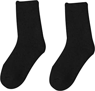 jieGorge, Calcetines de Lana súper Gruesos de Invierno, Calcetines de Lana cálidos para Mujer, Calcetines de Color sólido, Ropa, Zapatos y Accesorios