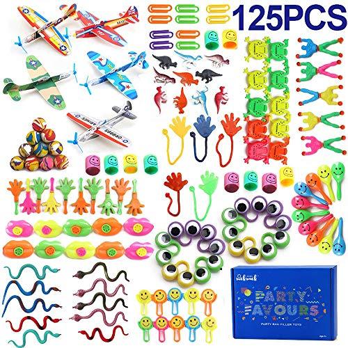 nicknack Surtido de 125 juguetes para rellenar piñatas y bolsas de regalo...