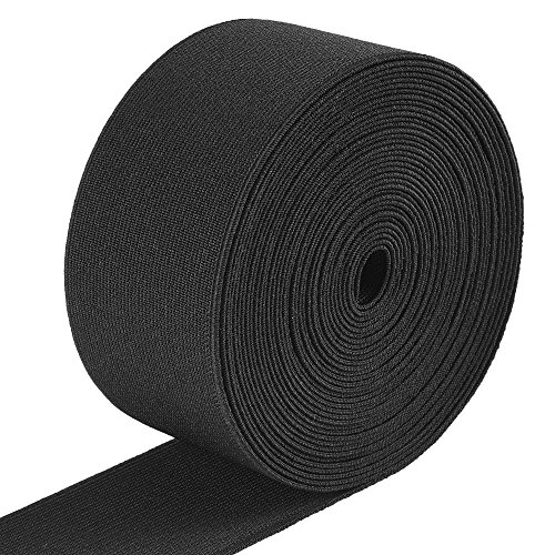 Jalan 6 Meter Gummiband Elastisch Band 50 mm Breit, schwarz