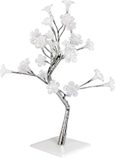 Simple Designs NL2007-CHR Morning Glory LED Lighted Decorative Tree, Silver