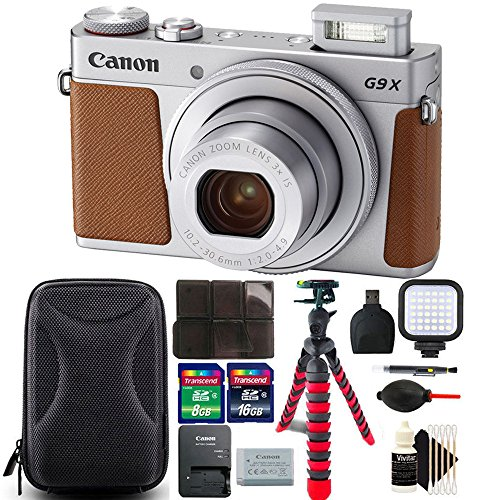 Canon PowerShot G9 X Mark II Digital Camera (Silver) International Version + 24GB Best Accessory Bundle