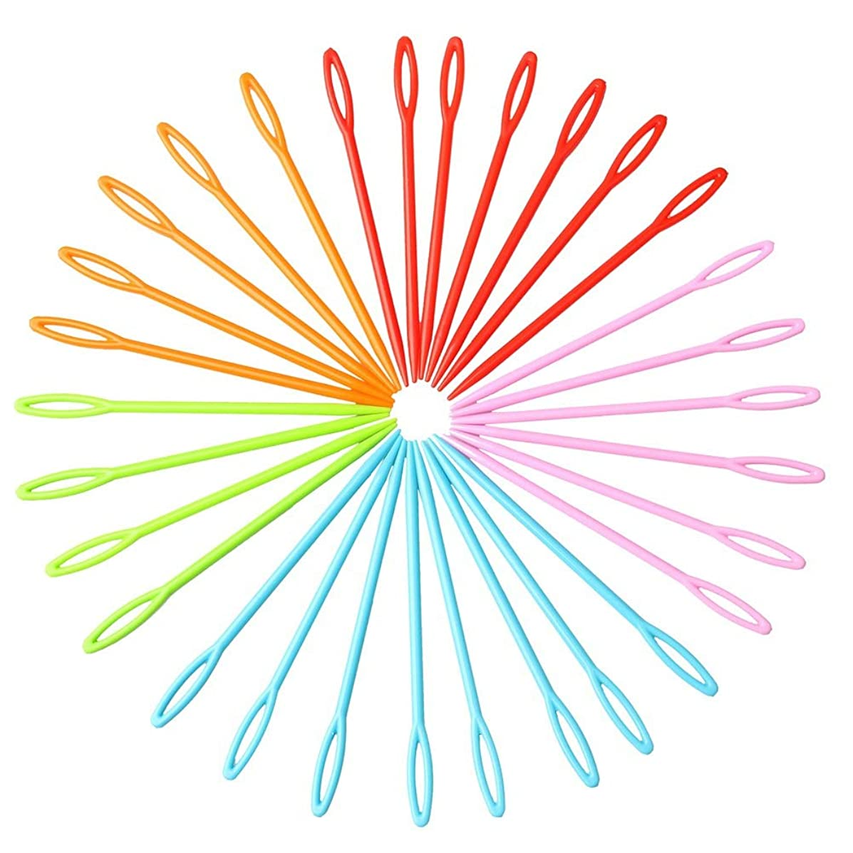 30 Pieces Colorful Plastic Sewing Needles, Color Scissor Sewing Needles Safety Plastic Lacing Needles For Crafts