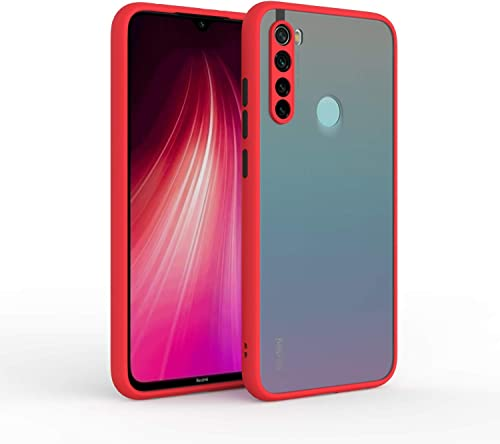 Dbspark Smoke Color Button Translucent Shock Proof Smooth Rubberized Matte Hard Back Cover Case For Redmi Mi Note 8