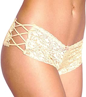 0162ab0bd Women s Regular   Plus Size Sexy Lingerie Lace Boyshort Panties with Lace  Side Tie Boyleg Stretched