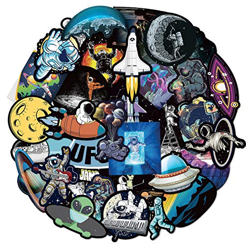 80Pcs Space Stickers for Boy, Cool Astronaut Stickers for Boy, Laptop Vinyl Stickers for Adult, Waterproof Water Bottle Stickers for Kids Teens Decal for Phone Case