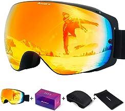Avoalre skibril, anti-condens snowboardbril Dubbellaags sferische groothoeklenzen Bril met 100% UV400-helm Geschikt voor m...