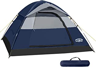 Pacific Pass Camping Tent 4 Person Family Dome Tent with...