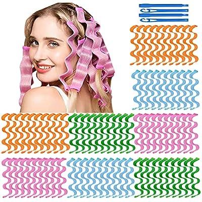 64Pcs Hair Curlers Spiral