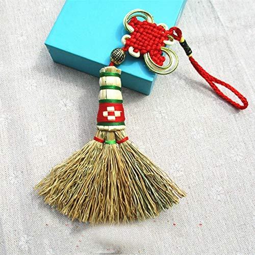Pendentif Petit Balai Échasses Pour Lit De Bébé Mini Pendentif Balai De Chevet(Colour:Noeud Chinois)