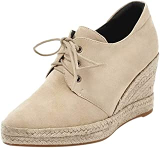 AbbyAnne Women Fashion Spring Shoes Flat Lace Up