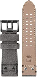 Luminox Men's Atacama Series Gray & Black Leather Strap Stainless Steel Buckle Watch Band