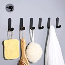Crochets à serviettes 6 pièces, porte-serviettes, crochet à vêtements sans perçage, porte-serviettes, crochet mural, croch...