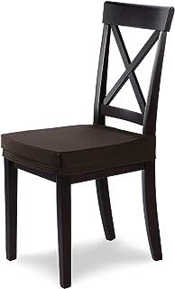SCHEFFLER-Home Marie 4 Fundas para Asiento de sillas, Estirable Cubiertas hidrófugo, Funda con Banda elástica, Marrón