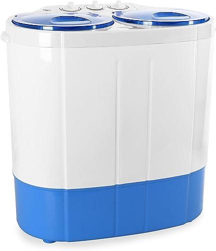 oneConcept DB003 - machine à laver, mini-machine à laver, lave-linge de camping, essoreuse, pour célibataires, étudia...
